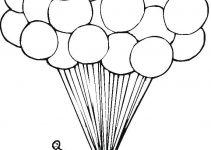 Desenhos de balões para colorir 1