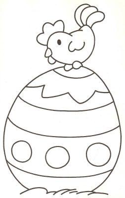 imagens de ovos de pascoa para colorir
