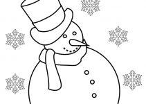 Imagens de bonecos de neve para imprimir e pintar