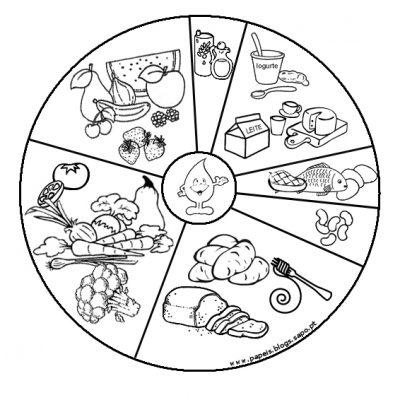 Imagens de legumes e verduras para imprimir e colorir 18
