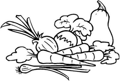 Imagens de legumes e verduras para imprimir e colorir 23