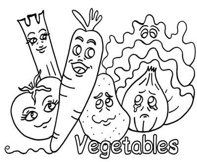 Imagens de legumes e verduras para imprimir e colorir 25