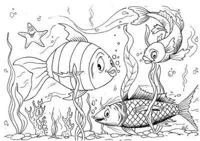 Imagens de peixes para imprimir e pintar- 17