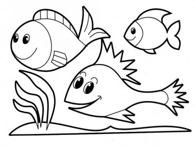Science fish coloring pages - Hexagontec