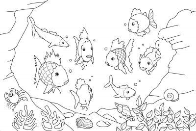 Imagens de peixes para imprimir e pintar- 5