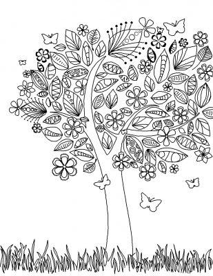 Imagens de plantas para imprimir e colorir 9