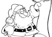 Pai Natal para colorir