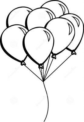 imagens de balões para pintar 10