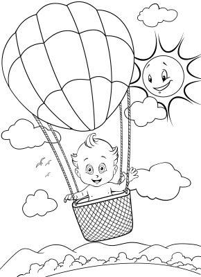 imagens de balões para pintar 3