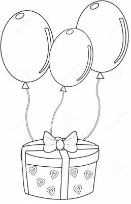 imagens de balões para pintar 4