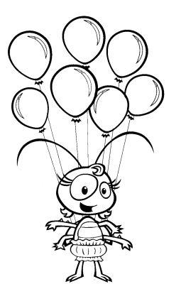 imagens de balões para pintar 5