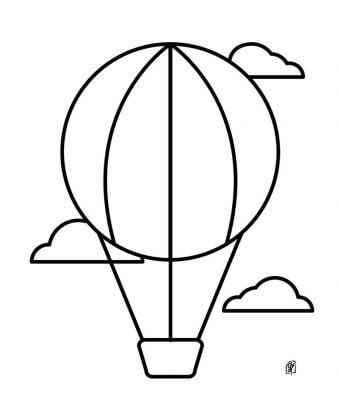 imagens de balões para pintar 6