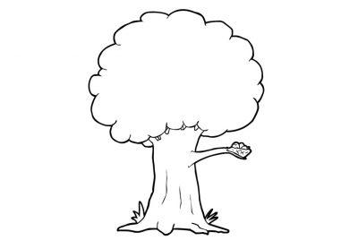 Imagens de árvores para imprimir e colorir - 20