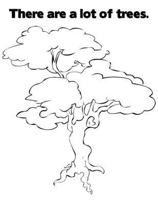 Imagens de árvores para imprimir e colorir - 24