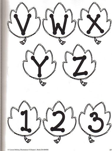 alfabeto folhas 5