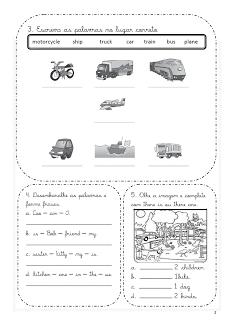 Atividades de Inglês 1° 2° 3° 4° 5° 6° ano exercícios (imagens) para imprimir (259)