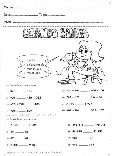 atividades de matemática 2º ano - 3