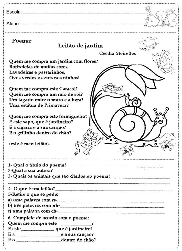 Atividades De Português 1 2 E 3 Ano Educação Online