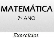 Fichas de trabalho de Matemática 7º ano