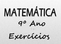 Fichas de trabalho de Matemática 9º ano