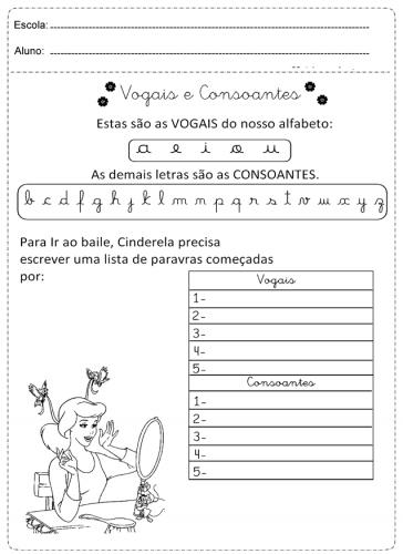 Vogais e consoantes