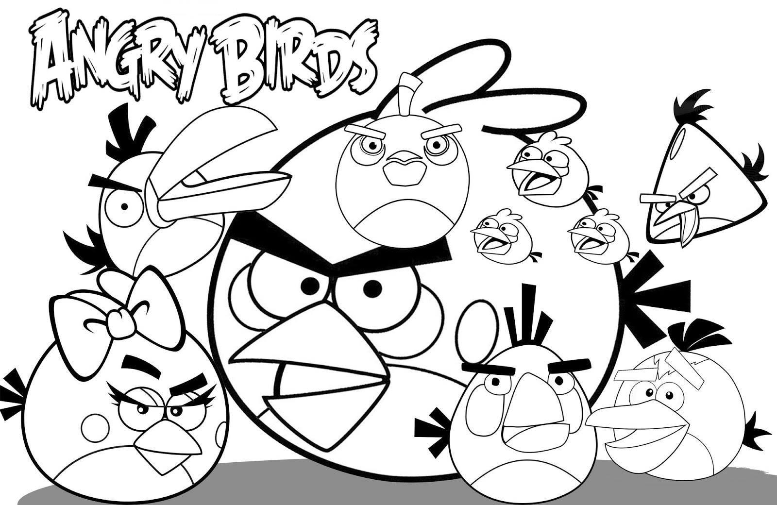 Como Desenhar O Pássaro Vermelho De Angry Birds: Desenhos Para Pintar Angry Birds