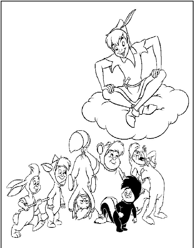 Desenhos para pintar Peter Pan Educa o Online