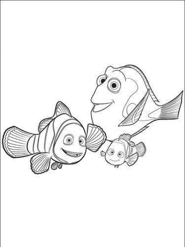 Desenhos para pintar Procurando Dory