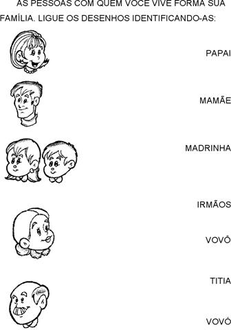 Atividades pedagógicas sobre a família