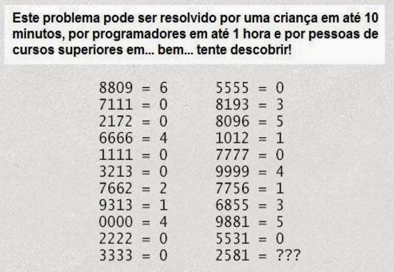 Desafio enigma de lógica 1