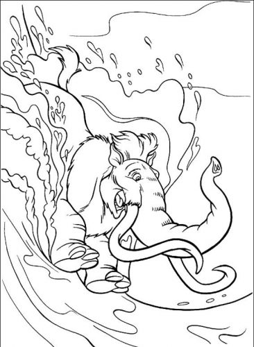 Desenhos para colorir A era do Gelo - 25