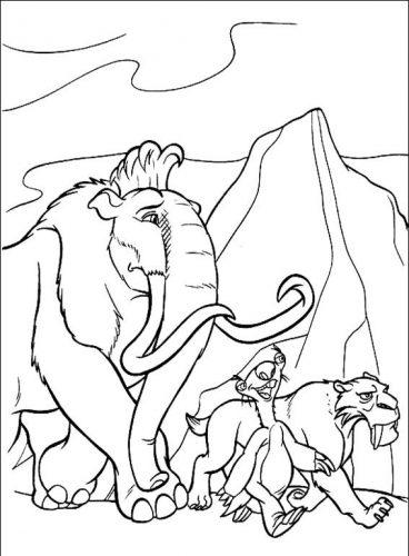 Desenhos para colorir A era do Gelo - 29