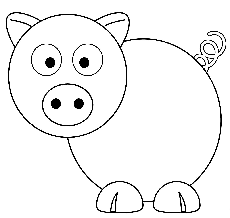 desenhos de porcos para imprimir e colorir   educa o online