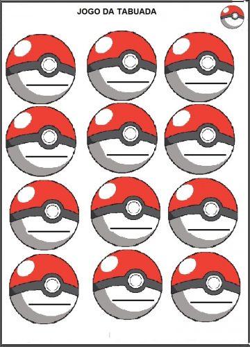 Atividades escolares com Pokemon Go - Jogo da tabuada