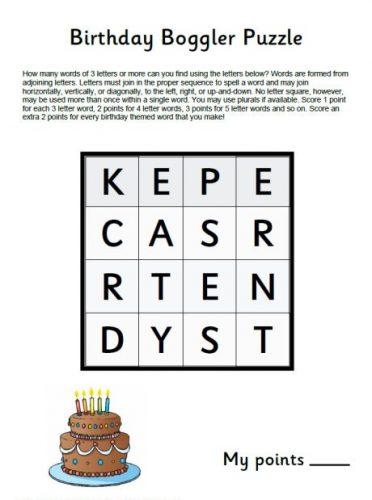 Desafios puzzle em Inglês para crianças -