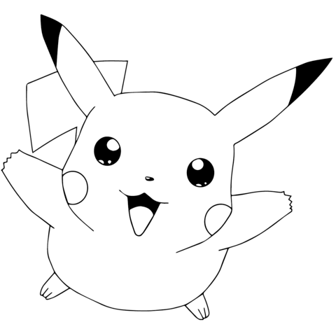 Desenhos do Pikachu para imprimir