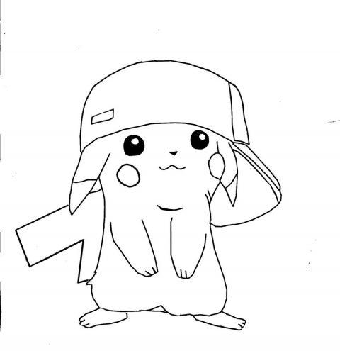 Desenhos do Pikachu para imprimir e colorir