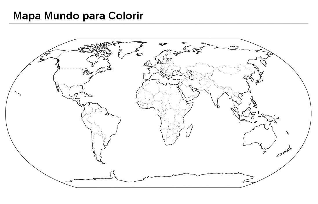 Imagens do mapa mundo para imprimir e colorir  Educao Online