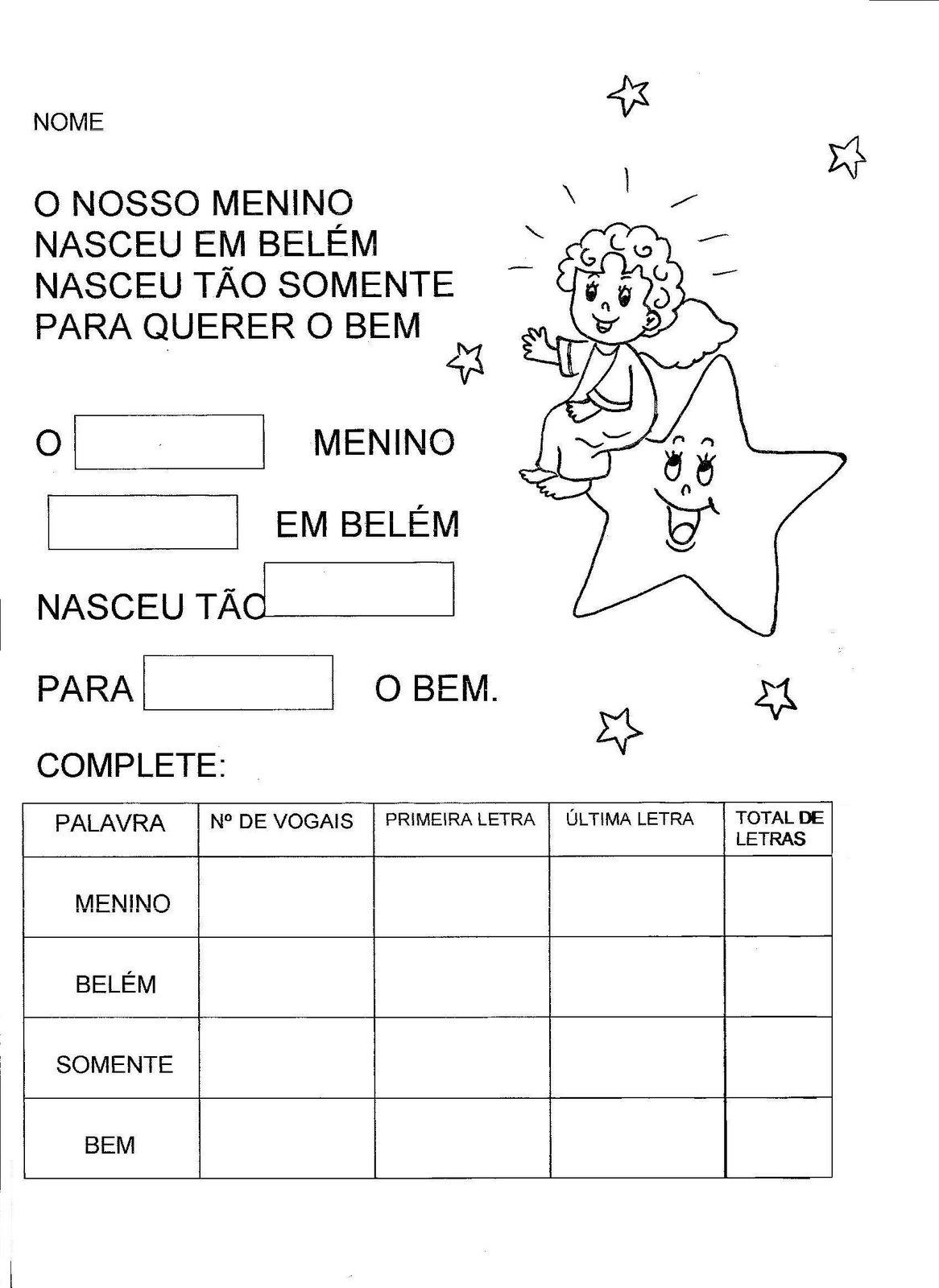 Natal 003 Fichas E Atividades