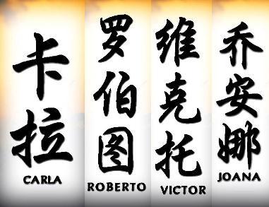 O seu nome em Chinês
