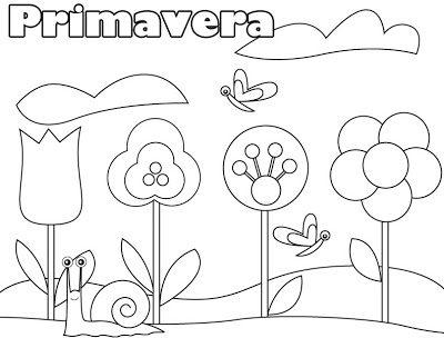 Imagens Da Primavera Para Imprimir E Colorir 6 Fichas E Atividades