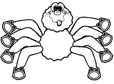 Imagens de aranhas para imprimir e colorir