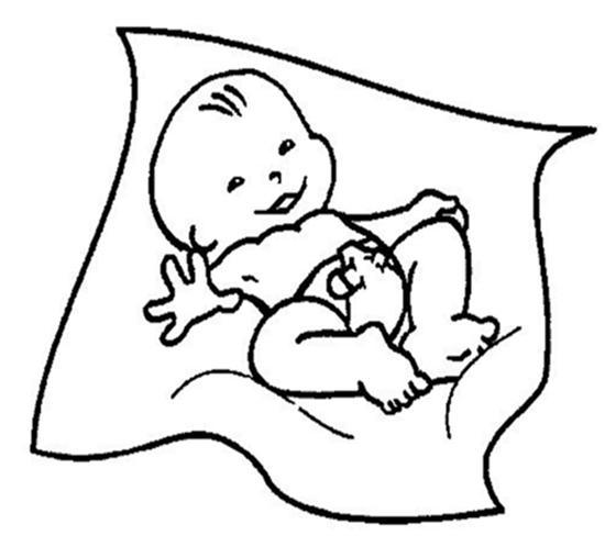 Imagens de bebés para imprimir e colorir