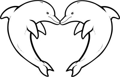 Imagens de golfinhos para imprimir e colorir
