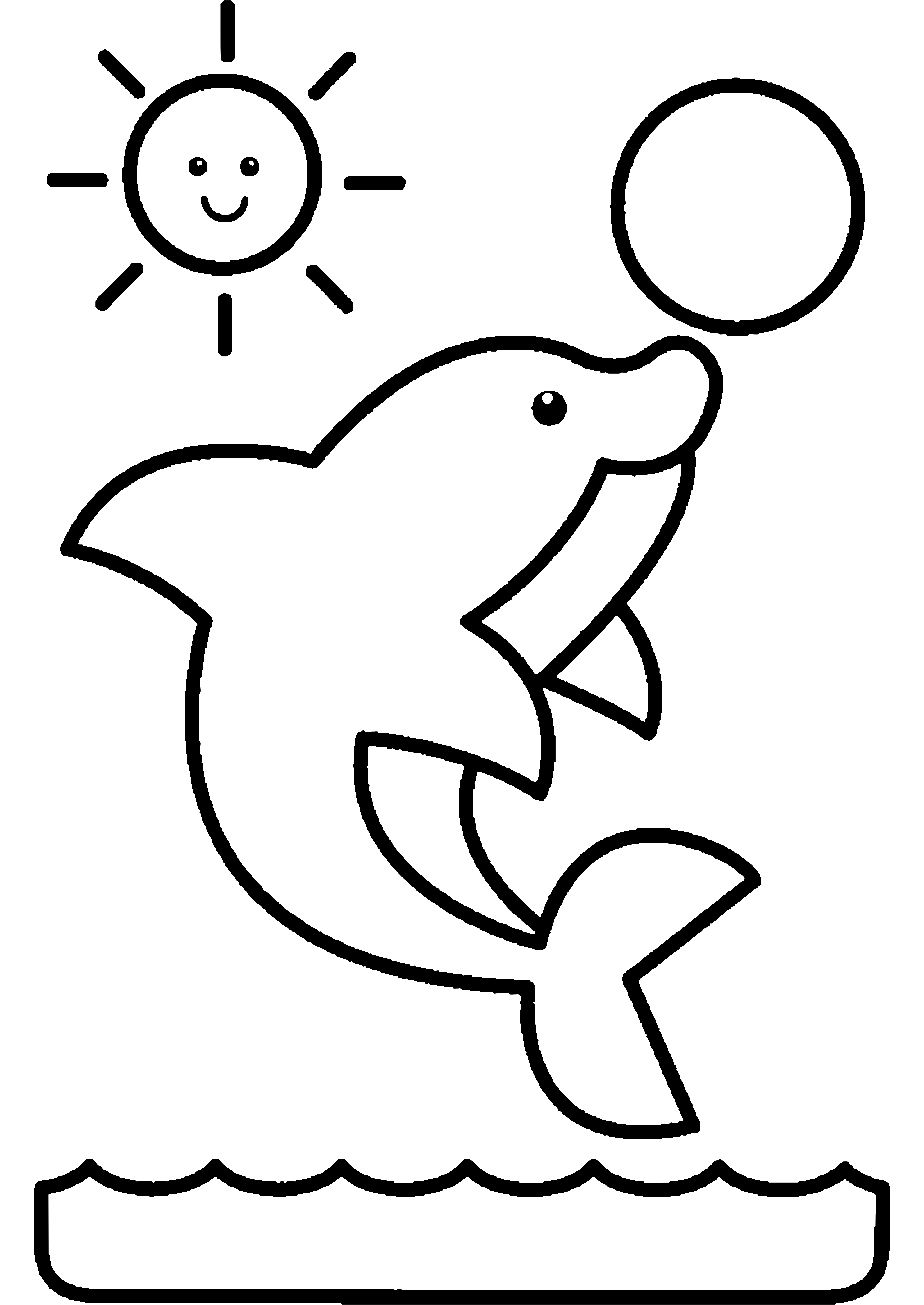 Imagens de golfinhos para imprimir e colorir fichas e - Dessin pour enfant facile ...