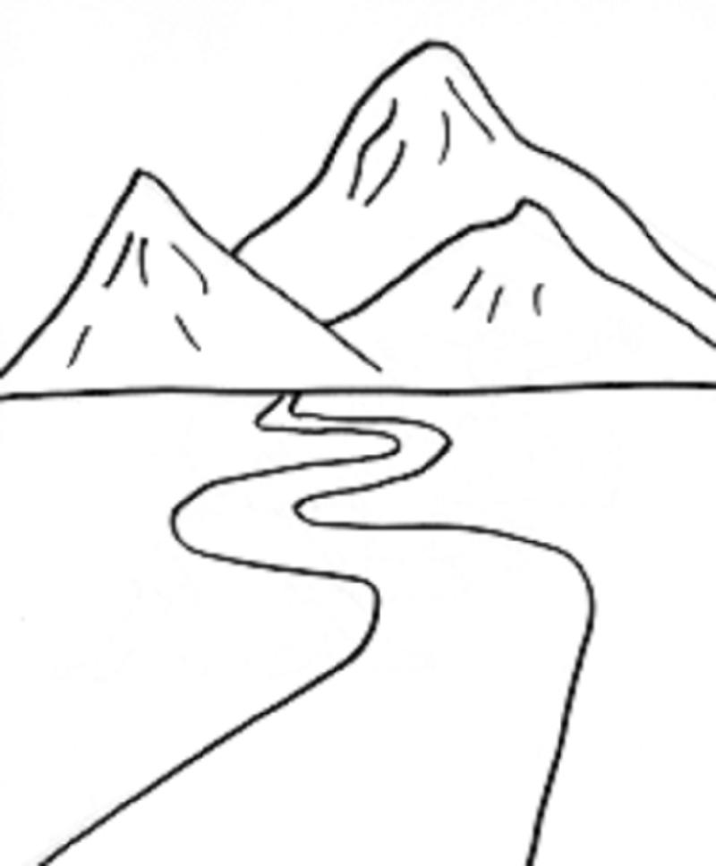 romans road coloring pages - imagens de montanhas para imprimir e colorir fichas e