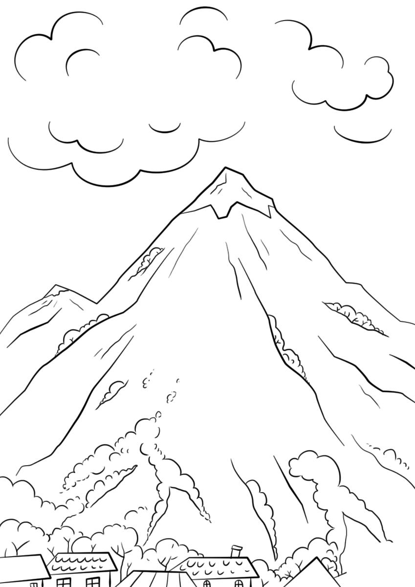 Imagens De Montanhas Para Imprimir E Colorir Fichas E