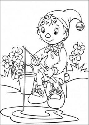 Imagens do Noddy para imprimir e colorir