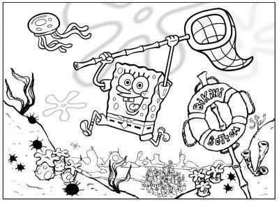 Imagens do Sponge Bob para imprimir e colorir