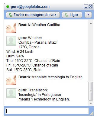 Serviço experimental permite fazer perguntas directamente pelo chat do Google Talk